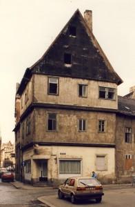 Kleine Ulrichstraße - vor der Sanierung in den 1990er Jahren, Halle/S.