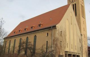 Lutherkirche – Polychromie in Form von farbigen Flächen