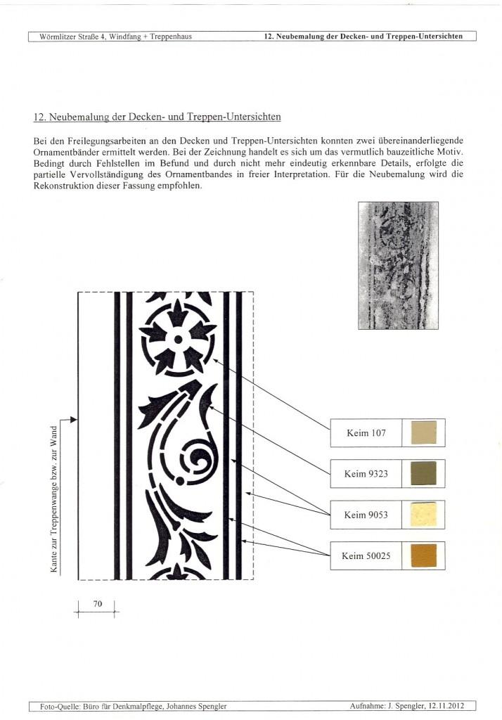 Neubemalung der Decken- und Treppen-Untersichten